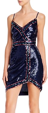 BCBGMAXAZRIA Rainbow Trim Sequin Cocktail Dress - 100% Exclusive