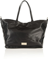 Valentino Floral-appliquéd leather tote