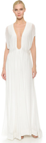 Jay Ahr Long Shaped Bust Gown