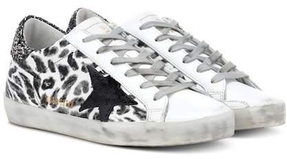 Golden Goose Superstar leopard leather sneakers