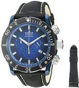 Edox Men's 'Chronoffshore-1' Swiss Quartz Stainless Steel and Nylon Diving Watch, Color:Black (Model: 10221 357BU BUV)