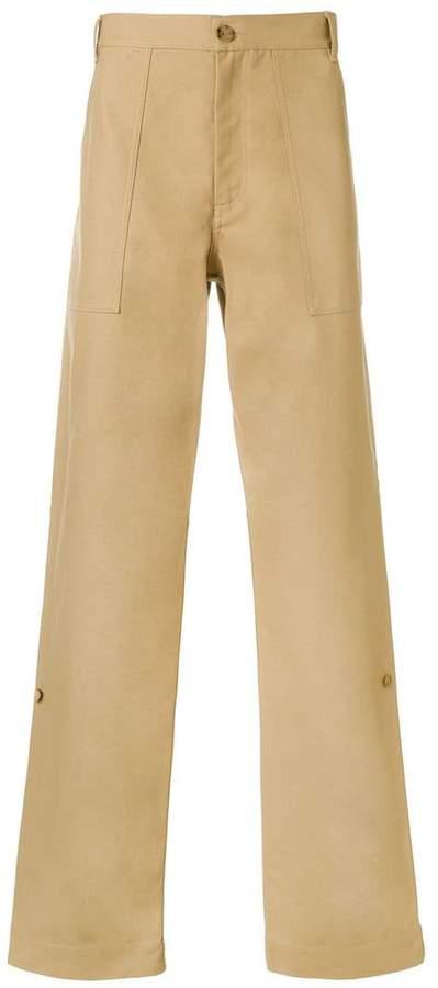 Calvin Klein wide-leg straight trousers