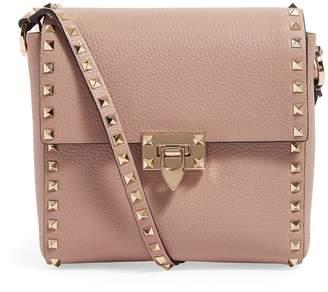 Valentino Garavani Leather Rockstud Shoulder Bag