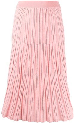 Kenzo Pleated-Knit Midi Skirt