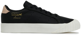 adidas Everyn Suede-trimmed Leather Sneakers