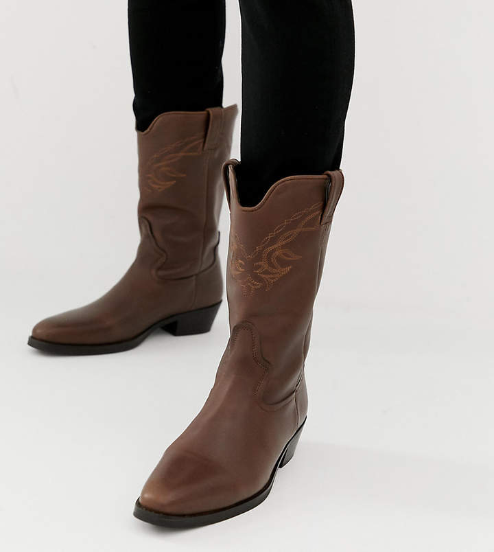 dc8514c57b5 Design DESIGN western boots in brown leather