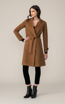 Soia & Kyo ADALICIA A-line double-face wool coat