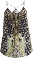 Camilla A Little Past Twilight-print silk cami top
