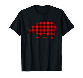 Buffalo David Bitton Porcupine Red Plaid Rodent Matching Family PJ Gift T-Shirt