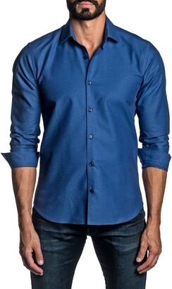 Jared Lang Regular Fit Diamond Button-Up Shirt