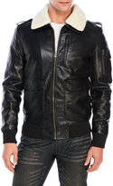 X-Ray Faux Leather Aviator Jacket