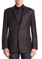 Giorgio Armani Model Checked Sport Coat
