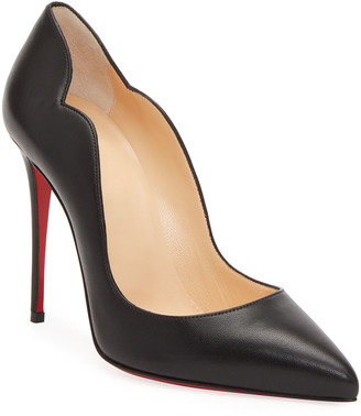Christian Louboutin Hot Chick Leather Red Sole Pumps