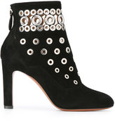 Alaia ankle boot with grommets