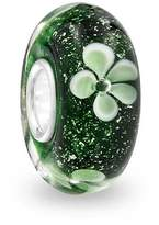 Bling Jewelry Sterling Silver Clover Murano Glass Charm Bead Pandora Compatible