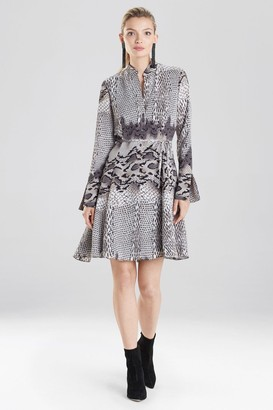 Natori Python Print Shirt Dress