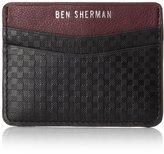 Ben Sherman Men's Embossed Leather Gingham Card Holder