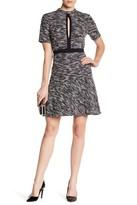 ABS by Allen Schwartz Short Sleeve Tweed Dress
