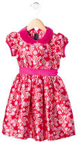 Oscar de la Renta Girls' Silk-Blend Floral Print Dress w/ Tags