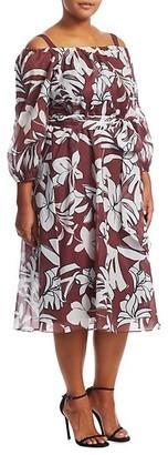 Marina Rinaldi, Plus Size Diabase Floral Dress