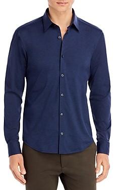 HUGO BOSS Ermo Melange Stretch Jersey Regular Fit Button Up Shirt