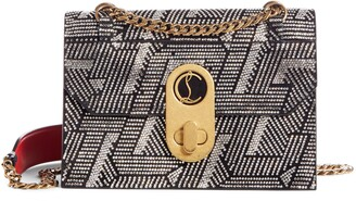 Christian Louboutin Small Elisa Embellished Leather Crossbody Bag