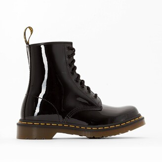 Dr. Martens Patent Leather Lace-Up Ankle Boots