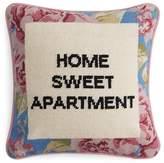"Sparrow & Wren Home Sweet Apartment Needlepoint Decorative Pillow, 12"" x 12"" - 100% Exclusive"