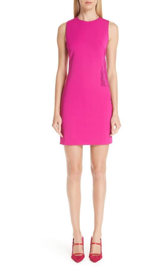 Cushnie et Ochs Fringe Side Cutout Dress
