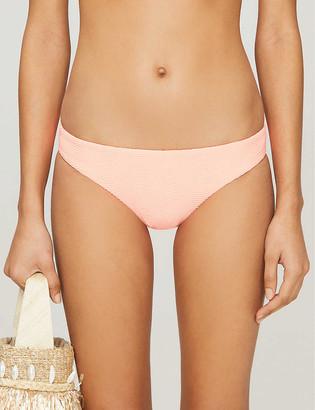 Seafolly Capri high-rise wavy-print bikini bottoms