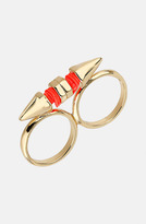 Topshop 'Cord Arrow' Double Finger Ring