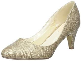 Paradox London Pink Women's Affection Closed-Toe Heels, Gold (Champagne), 40 EU