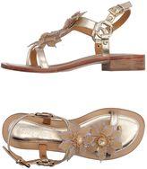 Coral Blue Toe strap sandals
