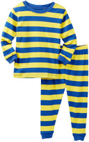 Leveret Royal Blue & Yellow Striped Pajama Set (Baby, Toddler, Little Boys, & Big Boys)