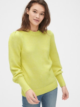 Gap Puff Sleeve Crewneck Sweater