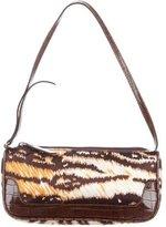 Dolce & Gabbana Leather-Accented Satin Shoulder Bag