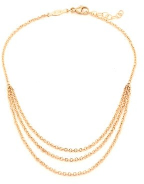 Jacquie Aiche Triple Chain 14kt Gold Anklet - Womens - Gold