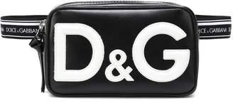 Dolce & Gabbana Leather-trim logo belt bag