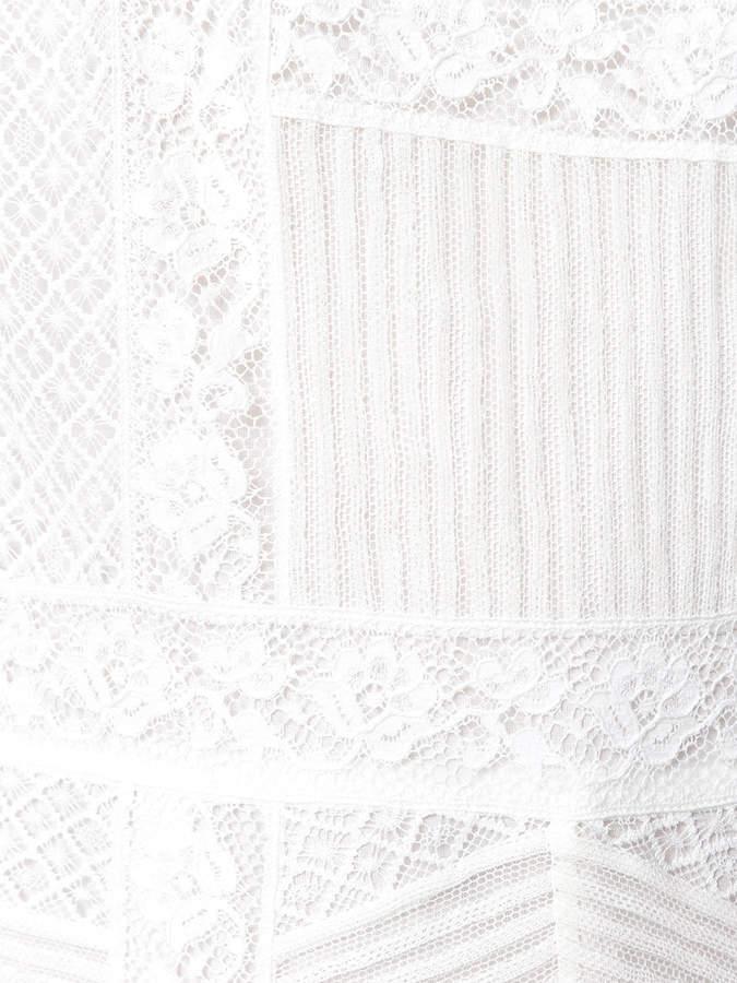 Burberry lace panel dress
