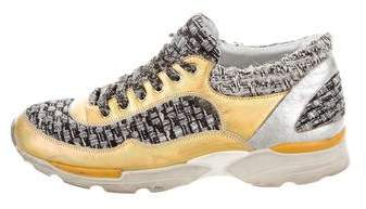 Chanel Holographic Tweed Sneakers