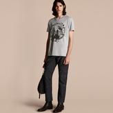Burberry Wallpaper Print Cotton T-Shirt