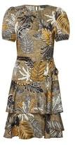 Dorothy Perkins Womens Multi Colour Tropical Print Frill Dress