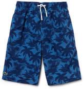 Lacoste Boy's Palm Tree Swim Shorts