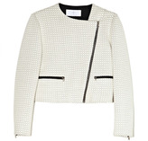 Thakoon Preorder Honeycomb Jacquard Jersey Moto Jacket