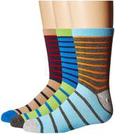 Jefferies Socks Stripe Crew Socks 3-Pair Pack Boys Shoes