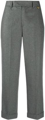 Twin-Set Pinstripe Cropped Trouser