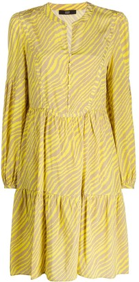 Steffen Schraut Animal Stripe-Print Dress