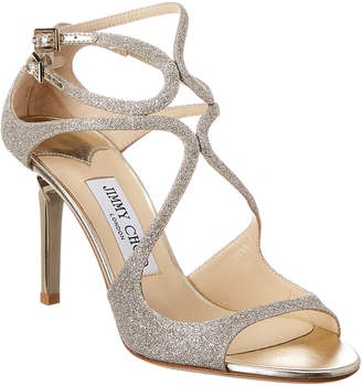Jimmy Choo Ivette 90 Dusty Glitter Sandal