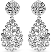 Oscar de la Renta Crystal teardrop clip-on earrings