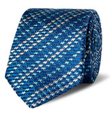 Etro 6cm Striped Woven Silk Tie